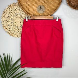 J. Crew |Pencil Skirt In Double-Serge Cotton SZ8